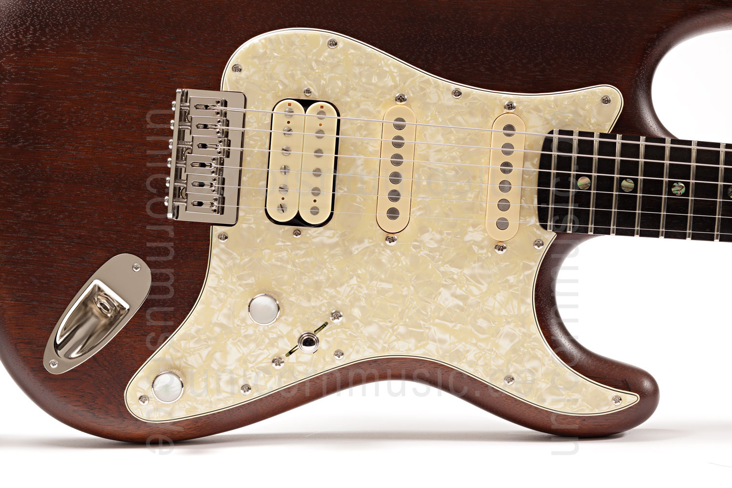 to article description / price Electric Guitar BERSTECHER Deluxe 2018 - Old Whisky / Cream Perloid + hard case - made in Germany