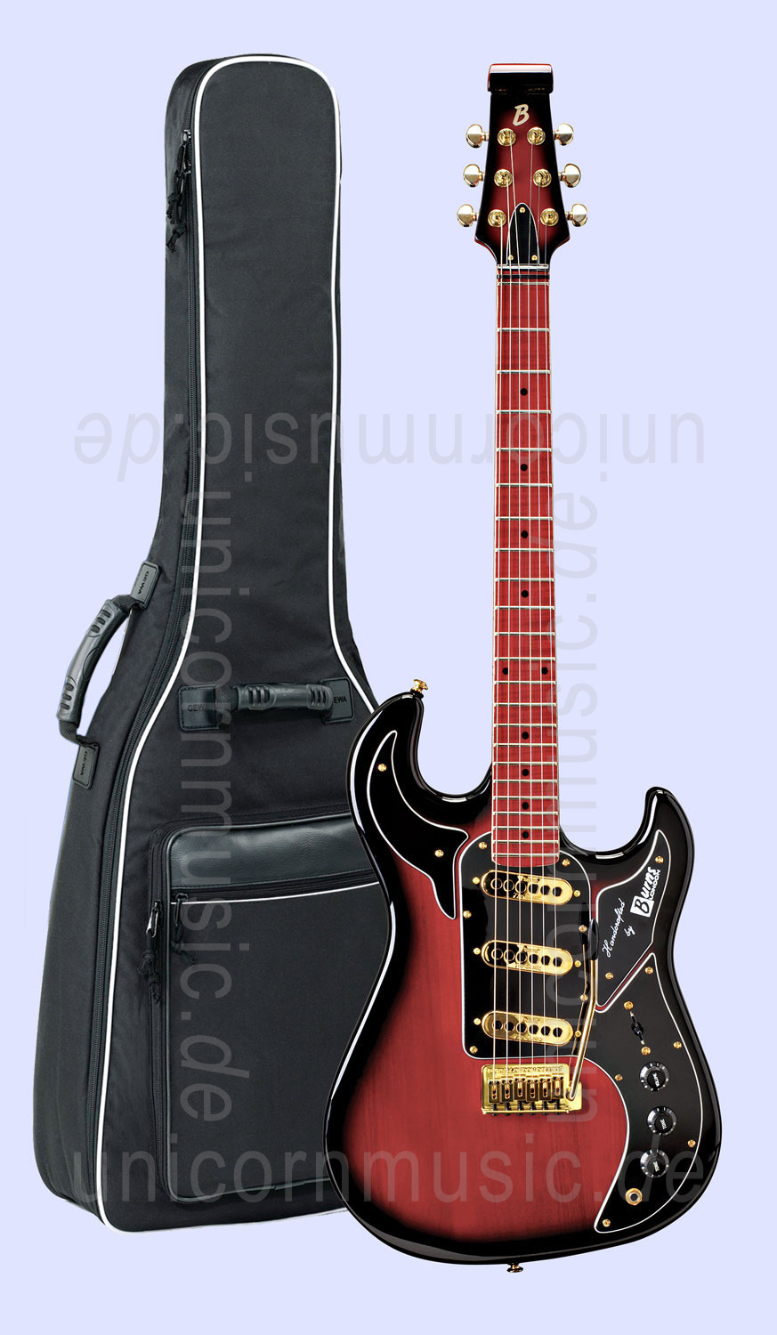 to article description / price Electric Guitar BURNS SHADOW  - red burst