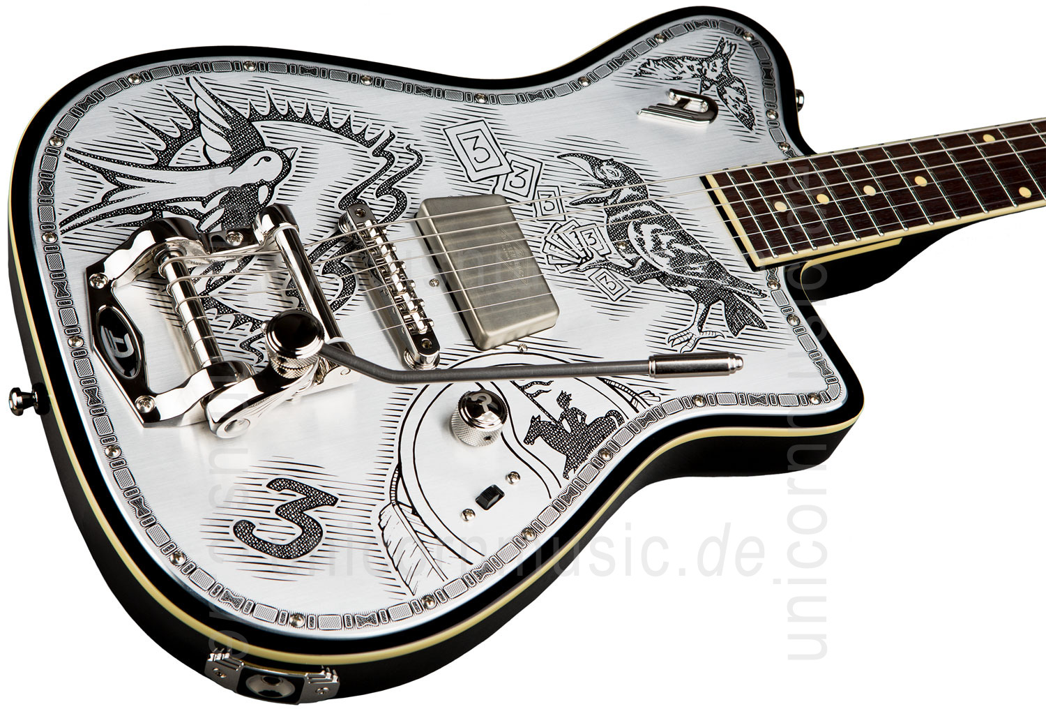 to article description / price Electric Guitar DUESENBERG JOHNNY DEPP Alliance Series - Black - Tremolo + custom line case