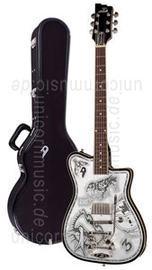 Large view Electric Guitar DUESENBERG JOHNNY DEPP Alliance Series - Black - Tremolo + custom line case