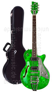Large view Electric Guitar DUESENBERG STARPLAYER TV - Emerald Green LTD (Mother of Pearl) (2016) + Custom Line Case