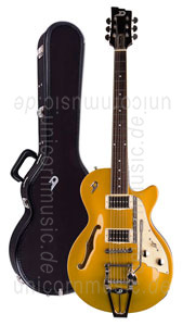 Large view Electric Guitar DUESENBERG STARPLAYER TV - Gold Top + Custom Line Case