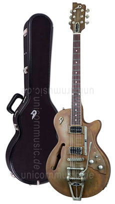 Large view Electric Guitar DUESENBERG STARPLAYER TV Custom Shop - Rusty Steel + Custom Line Case