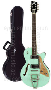 Large view Electric Guitar DUESENBERG STARPLAYER TV - SURF GREEN + Custom Line Case