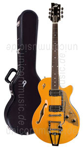Large view Electric Guitar DUESENBERG STARPLAYER TV - Trans-Orange (2016) + Custom Line Case