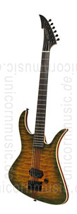Large view Electric MGH GUITARS Blizzard Beast Deluxe - green amber burst + softcase - made in Germany