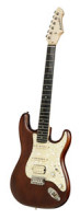 Electric Guitar BERSTECHER Deluxe 2018 - Old Whisky / Cream Perloid + hard case - made in Germany