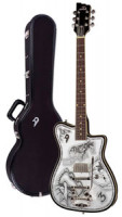 Electric Guitar DUESENBERG JOHNNY DEPP Alliance Series - Black - Tremolo + custom line case