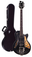Electric Guitar DUESENBERG STARPLAYER TV - Black Sparkle + Custom Line Case