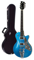 Electric Guitar DUESENBERG STARPLAYER TV NF (No F-Hole) STREAMLINE - Catalina Blue + Custom Line Case