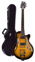 Electric Guitar DUESENBERG STARPLAYER TV - Two Tone Sunburst - Tremolo + Custom Line Case