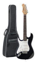 Left-Handed Children's Electric Guitar STAGG S300 3/4 BK LH