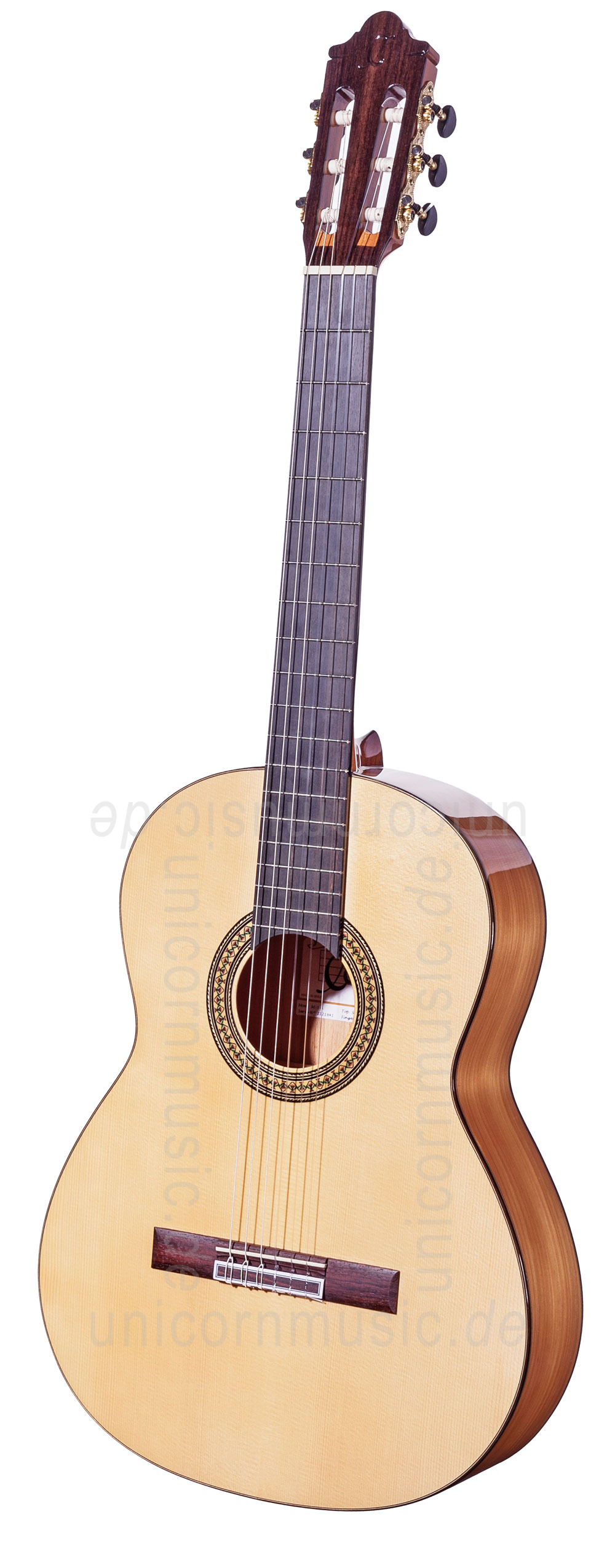 to article description / price Spanish Flamenco Guitar CAMPS M5-S (blanca) - solid spruce top - Sandalwood