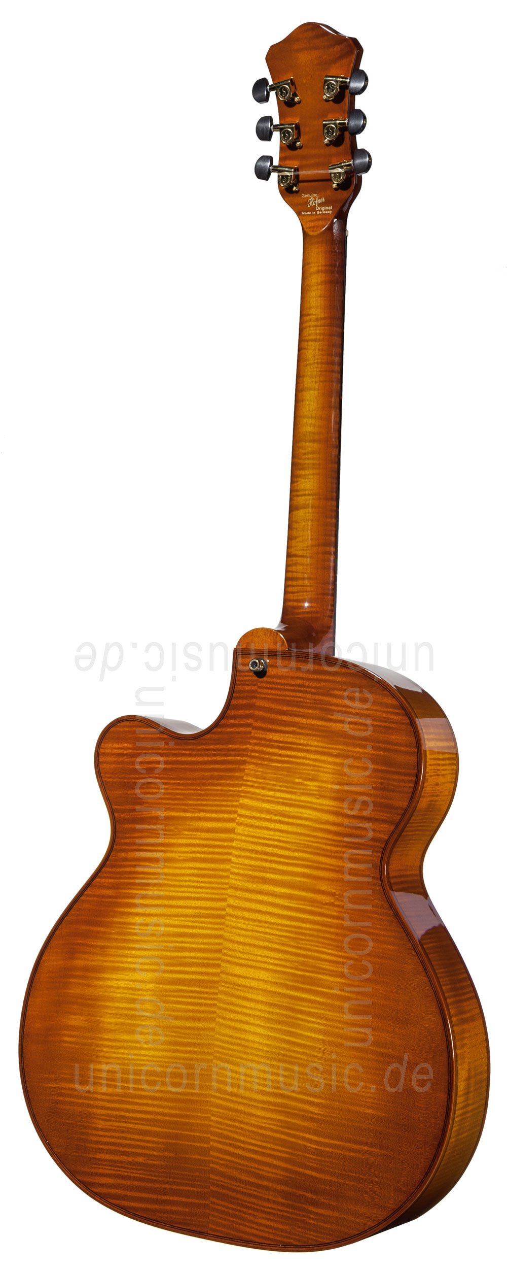 to article description / price Full-Resonance Archtop Jazz Guitar HOFNER CHANCELLOR HC-V-0 Gold Label + hardscase - Schellack - all solid