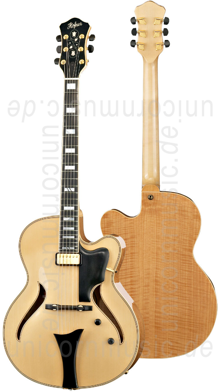 to article description / price Full-Resonance Archtop Jazz Guitar HOFNER JAZZICA CUSTOM HJC-N-0 + hardcase -solid spruce top