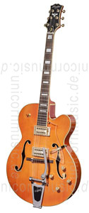 Large view Full-Resonance Archtop Jazz Guitar - TONEMASTER PLAYER Orange + hardcase