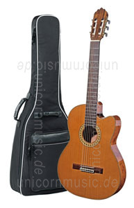 Large view Spanish Classical Guitar JOAN CASHIMIRA MODEL 56e E-C Cutaway Thinline - without pickup - solid cedar top
