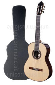 Large view Spanish Classical Master Guitar JOSE GONZALEZ LOPEZ spruce - all solid - spruce top  + case
