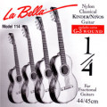 Children's- Classical Guitar Strings Set 1/8 + 1/4 - LA BELLA 114 - normal Tension