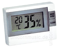 Large view Electronical hygrometer/thermometer to monitor air humidity