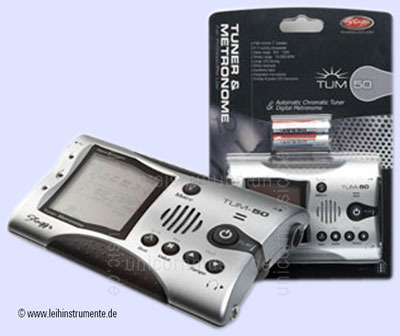 to article description / price Tuner/Metronom STAGG TUM-50 - silver + batteries