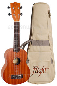 Large view Sopran Ukulele - FLIGHT NUS 310 - Sapele Wood + gigbag