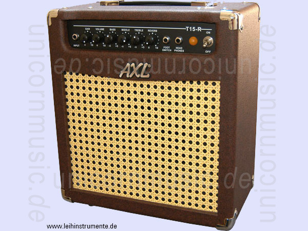 to article description / price Electric Guitar Tube-Amplifier AXL T15R - Combo