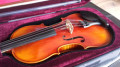4/4 Left-Handed Violinset - GASPARINI MODEL ORCHESTRA - all solid - shoulder pad