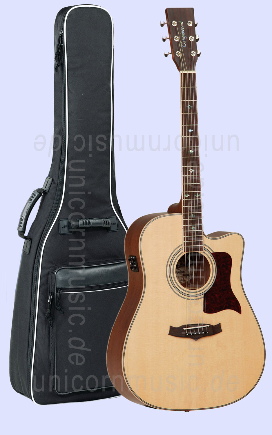 to article description / price Acoustic Guitar TANGLEWOOD TW115/CE - Premier Series - Electro Cutaway - B-Band - solid top