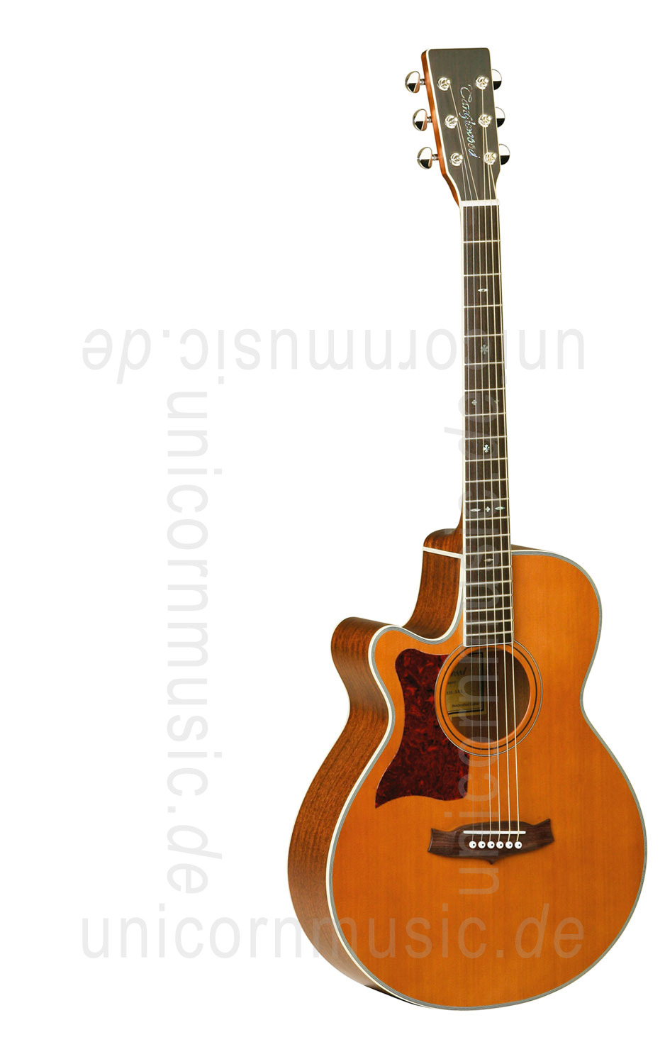 to article description / price Acoustic Guitar TANGLEWOOD TW45/NS E LH - Sundance Series - Fishman Presys Plus EQ - Super Folk - Cutaway - left-hand