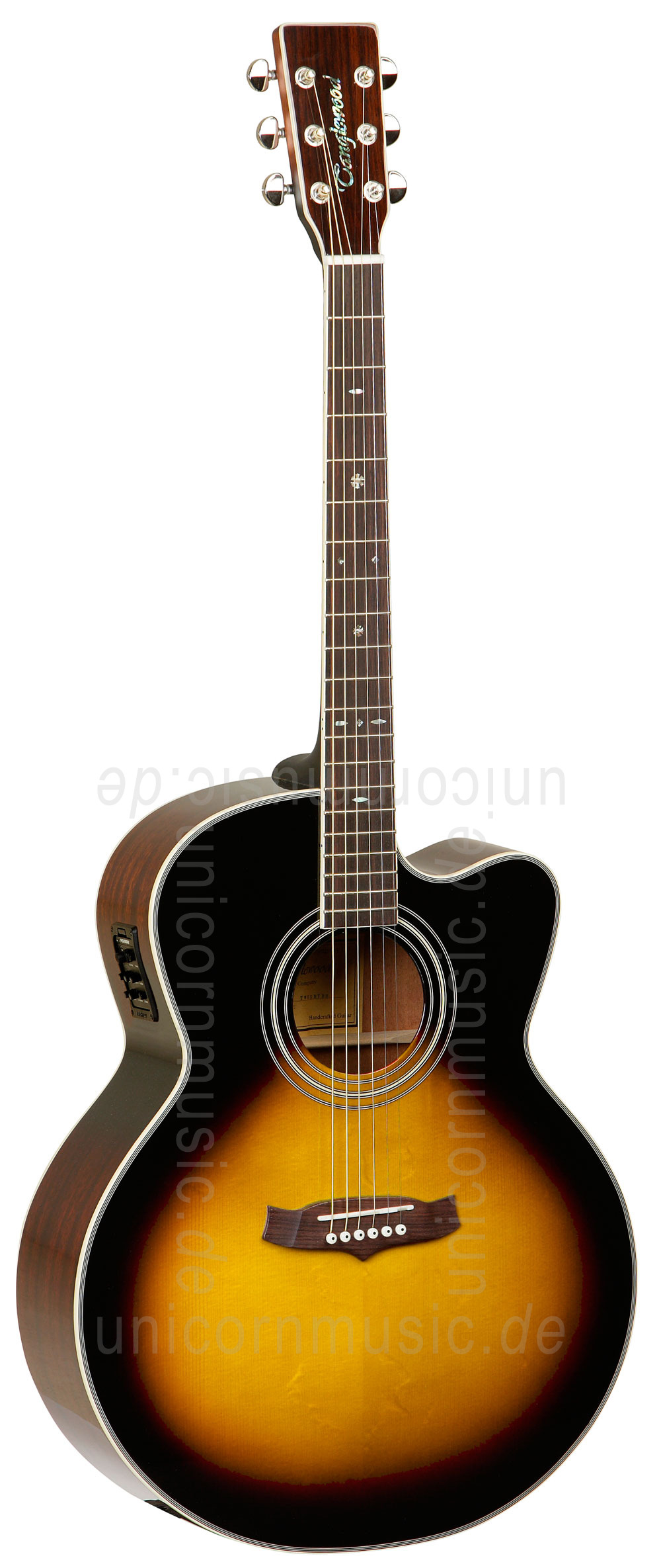to article description / price Acoustic Guitar TANGLEWOOD TW55/VS E - Sundance Series - Fishman Presys Plus EQ - Cutaway - solid top + back
