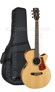 Large view Acoustic Guitar Cort LUCE 100F NS - Super Folk - Pickup - Cutaway - solid spruce top