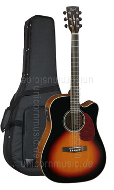 Large view Acoustic Guitar CORT MR 710-F SB - Dreadnought - Fishman - Cutaway - solid spruce top