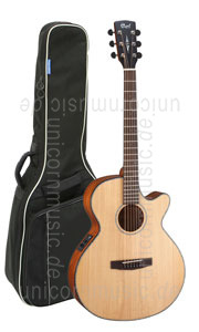 Large view Acoustic Guitar CORT SFX E NS - Super Folk - Pickup - Cutaway - solid spruce top