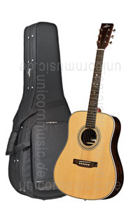 Large view Acoustic Guitar STANFORD DEJA VU SERIES DRUNKEN DADDY 28 - Dreadnought - solid top + back