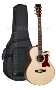 Large view Acoustic Guitar TANGLEWOOD TW45/H SR E - Heritage Series - Super Folk - Fishman Sonitone - Cutaway - all solid