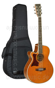 Large view Acoustic Guitar TANGLEWOOD TW45/NS E LH - Sundance Series - Fishman Presys Plus EQ - Super Folk - Cutaway - left-hand