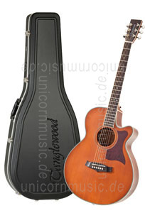 Large view Acoustic Guitar TANGLEWOOD TW45/NS E - Sundance Series - Fishman Presys Plus EQ - Super Folk - Cutaway - solid top + back