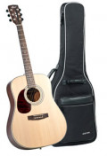 Acoustic Guitar CORT EARTH 70 OP LH - Dreadnought - solid spruce top - left hand