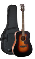 Acoustic Guitar CORT EARTH 300V SB - Dreadnought - solid Adirondack spruce top + solid back