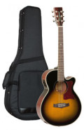 Acoustic Guitar TANGLEWOOD TW45/VS E - Sundance Series - Fishman Presys Plus EQ - Super Folk - Cutaway - solid top + back